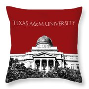 Texas A And M University - Dark Red Throw Pillow