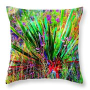 Texas Agave Pee Wee Plant Throw Pillow