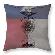 Texas Badge Patent On Texas Flag Throw Pillow