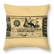 Texas Banknote, 1841 Throw Pillow