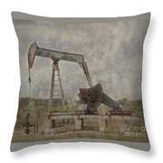 Texas Black Gold Throw Pillow