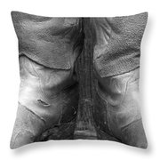 Texas Boots Portrait - Bw 01 Throw Pillow