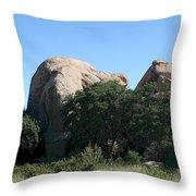 Texas Canyon Megaliths  Throw Pillow