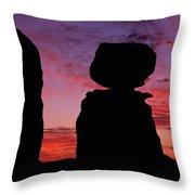 Texas Canyon Sunset Throw Pillow