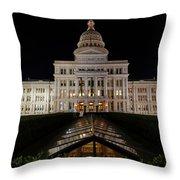 Texas Capital Building Throw Pillow