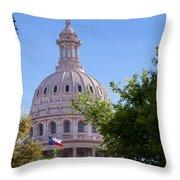 Texas Capital Dome Throw Pillow