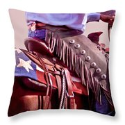 Texas Cowboy Throw Pillow