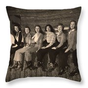 Texas Cowgirls 1950s Throw Pillow