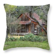 Texas Hill Country House Throw Pillow