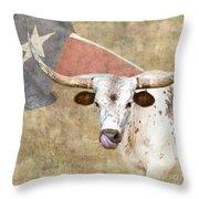 Texas Longhorn # 2 Throw Pillow
