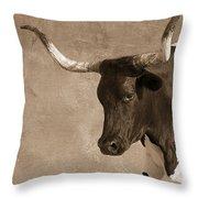 Texas Longhorn #6 Throw Pillow