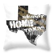 Texas Map Cool Throw Pillow