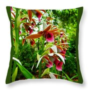 Texas Orchids Throw Pillow