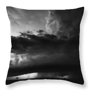 Texas Panhandle Supercell - Black And White Throw Pillow