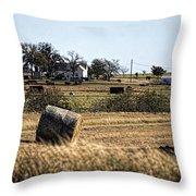 Texas Ranch Scene Throw Pillow