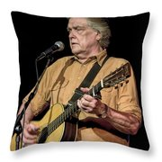 Texas Singer Songwriter Guy Clark Throw Pillow