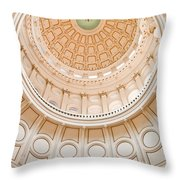 Texas State Building Dome Throw Pillow