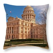 Texas State Capitol Building Throw Pillow