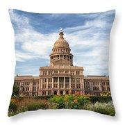 Texas State Capitol II Throw Pillow