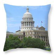 Texas State Capitol Throw Pillow