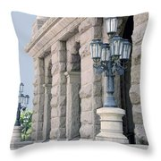 Texas State Capitol North Portico Throw Pillow