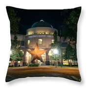 Texas State History Throw Pillow