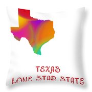 Texas State Map Collection 2 Throw Pillow