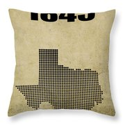 Texas Statehood 2 Throw Pillow