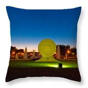 Texas Tech Seal At Night Throw Pillow