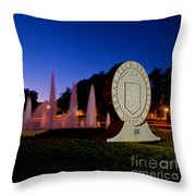 Texas Tech University Seal And Blue Sky Throw Pillow