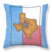 Texas Tried And True Red White And Blue Star Throw Pillow