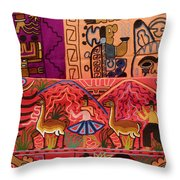 Textiles With Vibrant Colors For Sale Throw Pillow