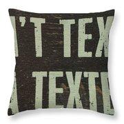 Texting Throw Pillow
