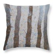Textural Forest Throw Pillow