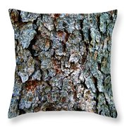 Textural Turquoise Rust Gray  Throw Pillow