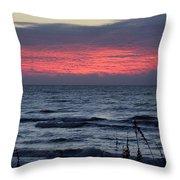 Textured Sky Throw Pillow