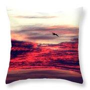 Textured Clouds Throw Pillow