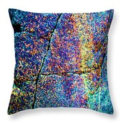 Texture And Color Abstract Throw Pillow