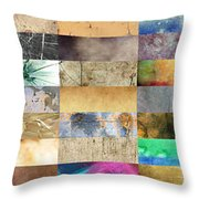 Texture Collage Throw Pillow