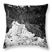Texture No.2 B W Throw Pillow