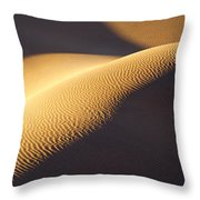 Texture Pattern On Sand Dunes Throw Pillow