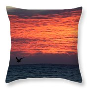 Texture With Bird Throw Pillow