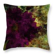 Textured Flora Throw Pillow by Ankeeta Bansal