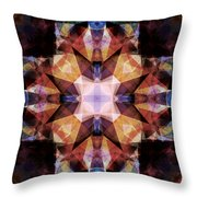 Textured Geometric Mandala Throw Pillow