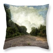 Textured Landscape Throw Pillow