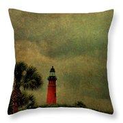 Textured Lighthouse Throw Pillow