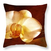 Textured Orchid Throw Pillow