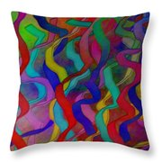 Textured Ribbons Throw Pillow