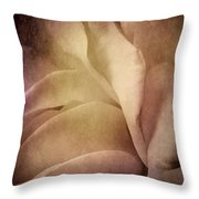Textured Rose Petals In Lilac Throw Pillow