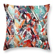 Textured Structural Abstract Throw Pillow